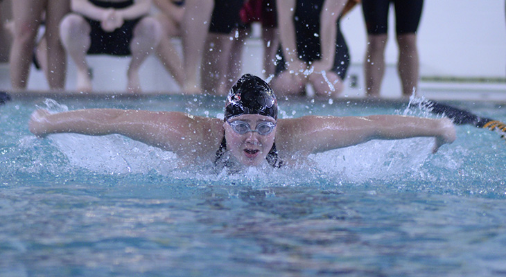 NEAC Honors Wells Swimming Senior