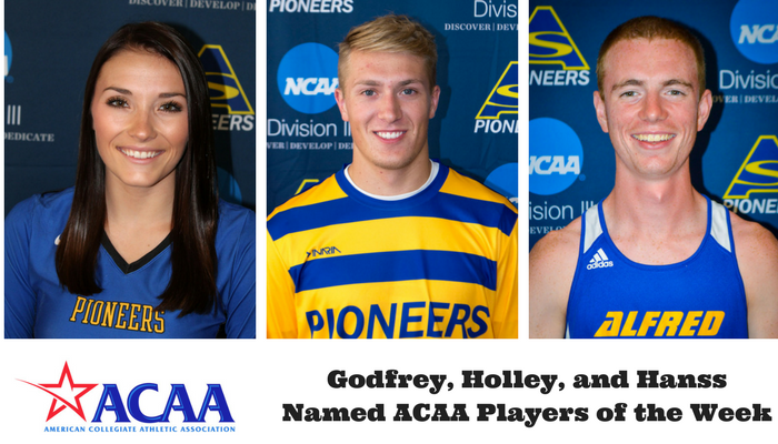 Godfrey, Holley, and Hanss Honored by ACAA