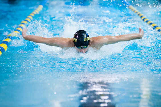 Men's Swimming is Tripped Up at Home, 135-89