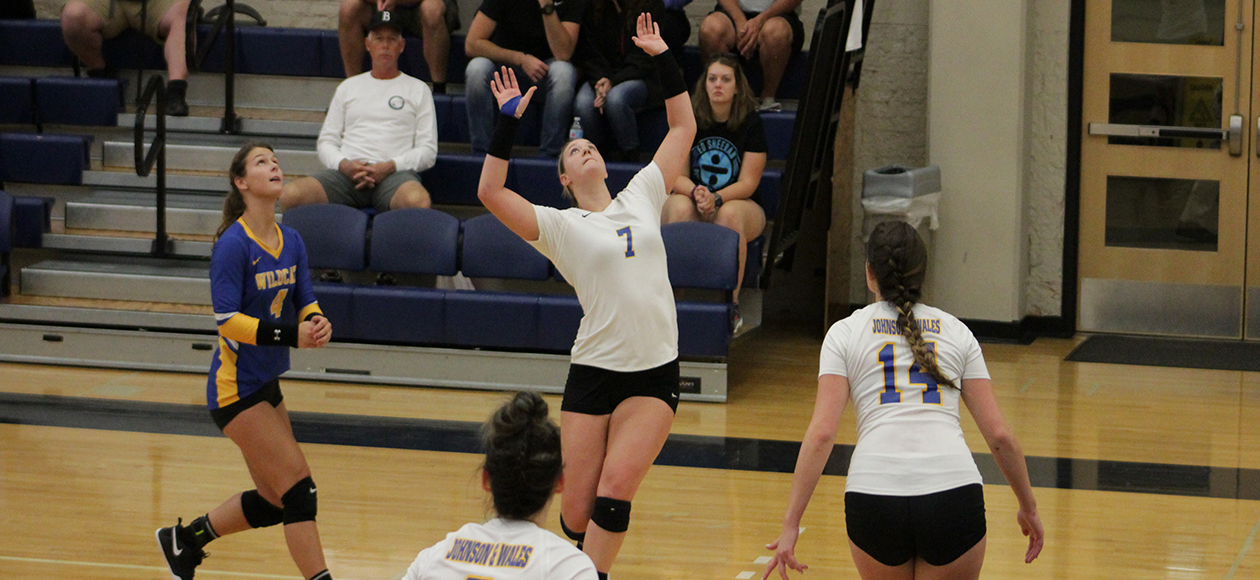 JWU edged out in five sets on Saturday