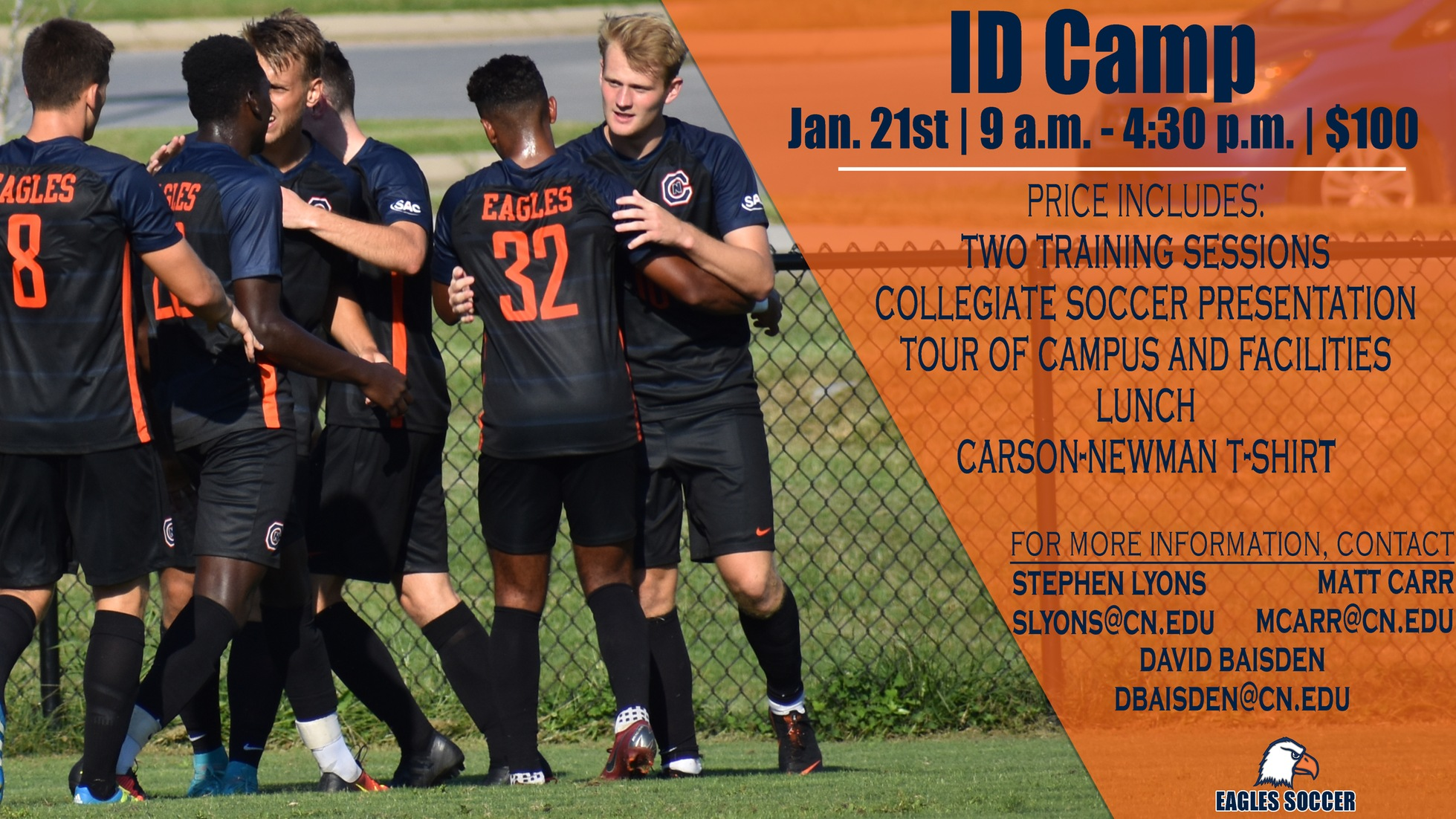 Men's soccer Winter I.D. Camp a month away
