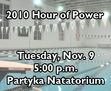 "Men And Women's Swimming To Conduct ""Hour Of Power"" Relay For Cancer Research"