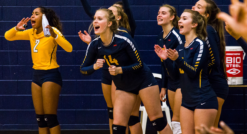 No. 4 WOMEN'S VOLLEYBALL DOWNS CAMBRIAN IN THREE