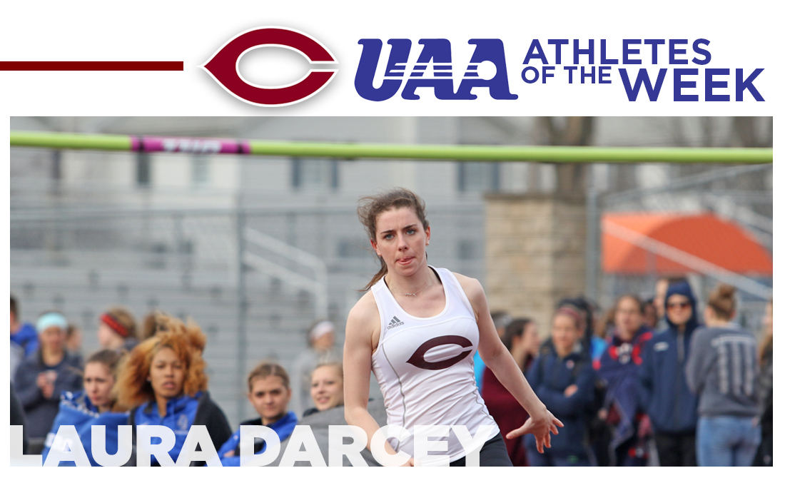 Laura Darcey Earns Second UAA Athlete of the Week Award