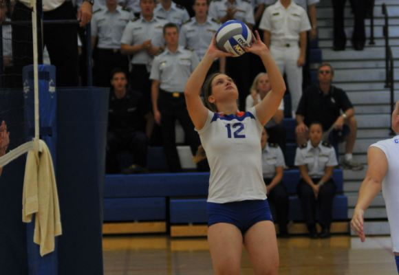 Volleyball Rolls Past Merchant Marine