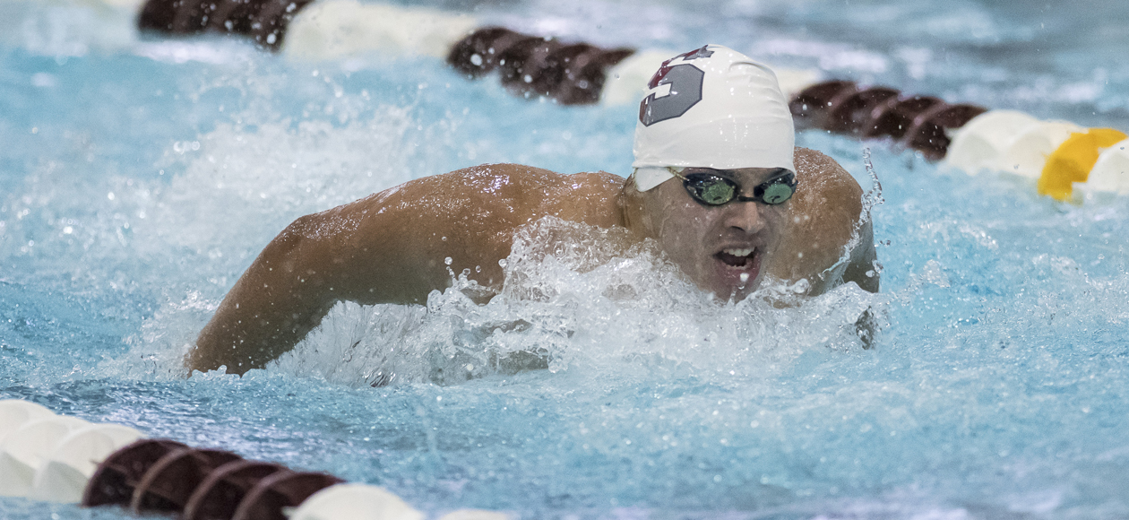 Men's Swimming and Diving Takes Sixth at NEWMAC Championships