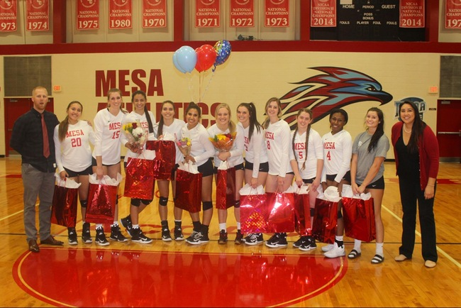 #12 Mesa Volleyball Take Home 3-1 Win vs GCU Club on Sophomore Night