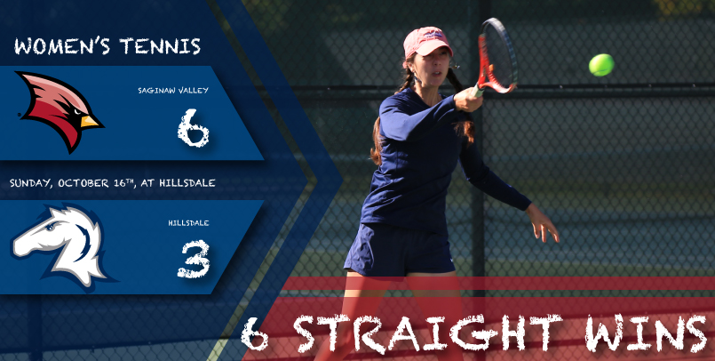 Tennis claims sixth straight after 6-3 victory at Hillsdale
