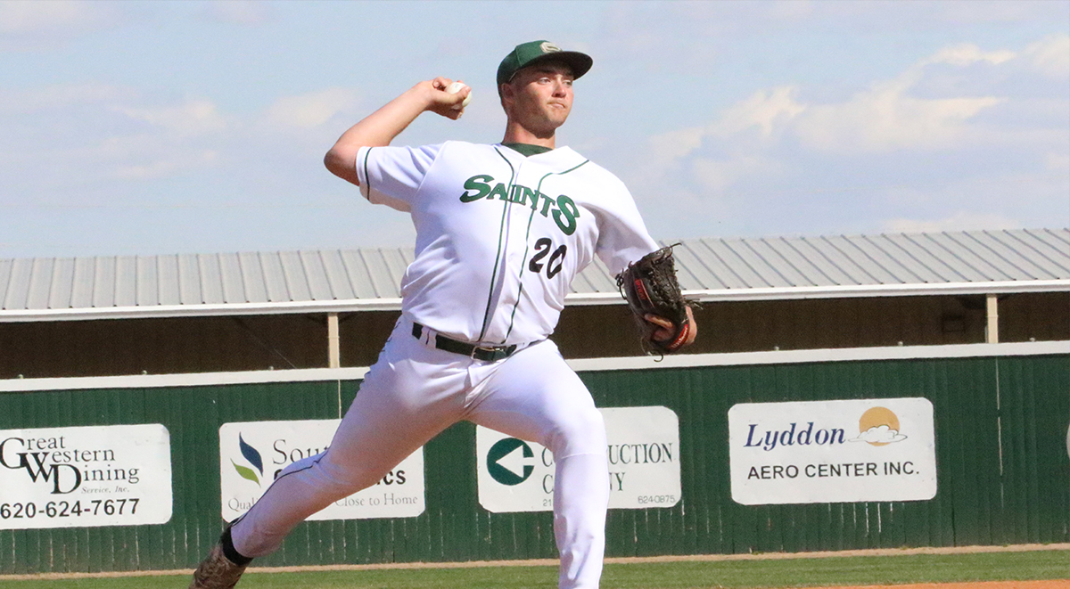 Saints Use Long Balls to Split with No. 18 Barton
