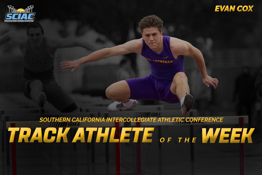 Cox Named SCIAC Track Athlete of the Week