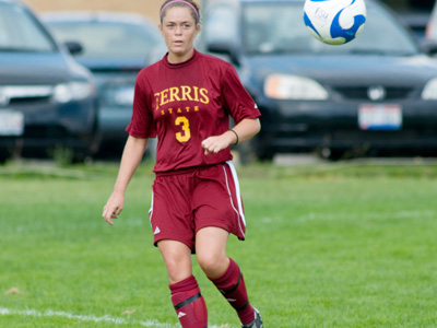 Junior defender Kristen March assisted on Ferris State's game-winning goal in the victory at Findlay.