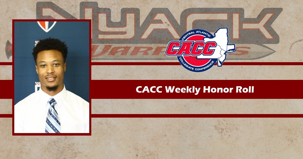 Robert Tyler Named to CACC Weekly Honor Roll