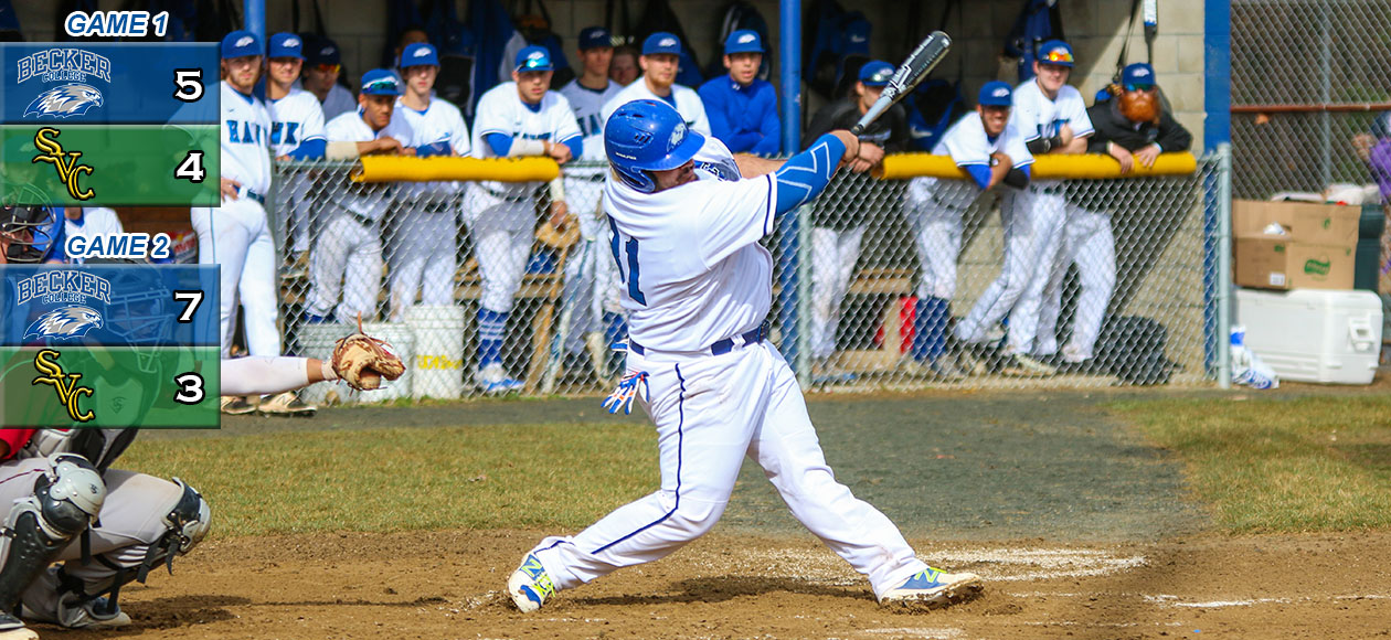 Baseball Sweeps NECC Doubleheader, Bedell Sets Home Run Record