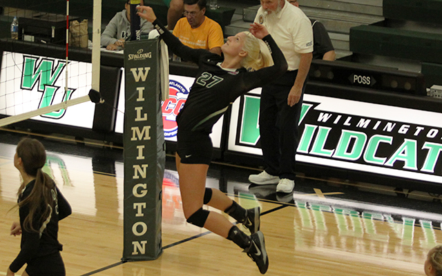 Wilmington Volleyball Begins 2015 CACC Schedule with Tough 3-0 Sweep over USciences
