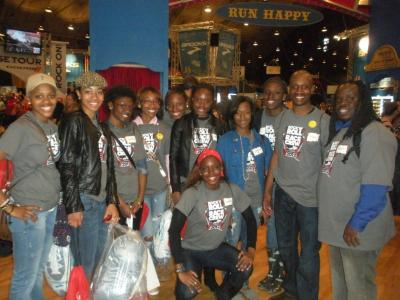 University of the District of Columbia Women's Track and Field Team Volunteers at Rock 'n Roll USA Marathon