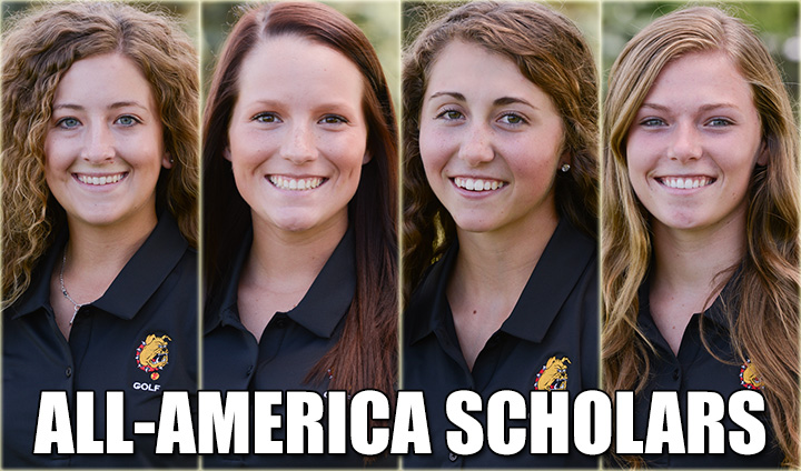 Four Ferris State Women's Golfers Chosen As All-America Scholars