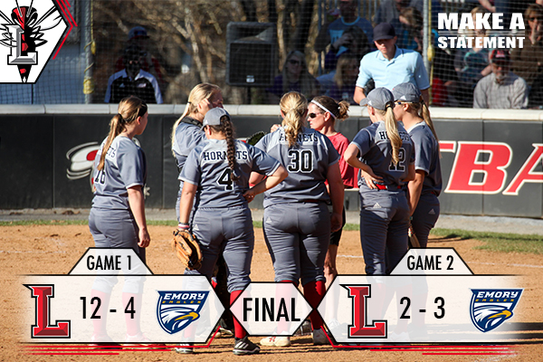 #25 Softball Splits Doubleheader with #18 Emory, 12-2, 2-3
