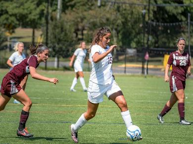 Late Goals Spark STAC as Lady Spartans Top Queens, 2-0
