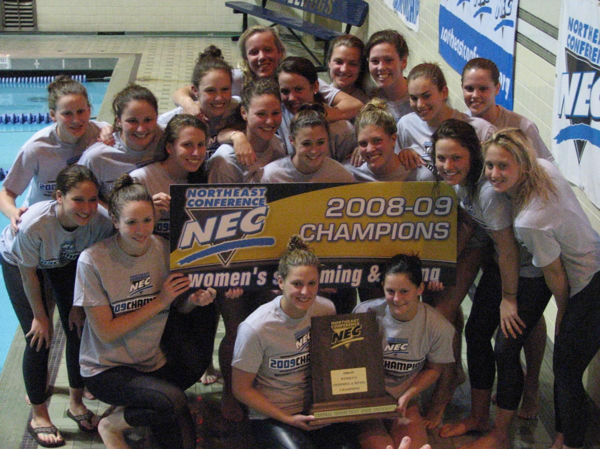CCSU Swimming and Diving Repeats as Northeast Conference Champions in 2009