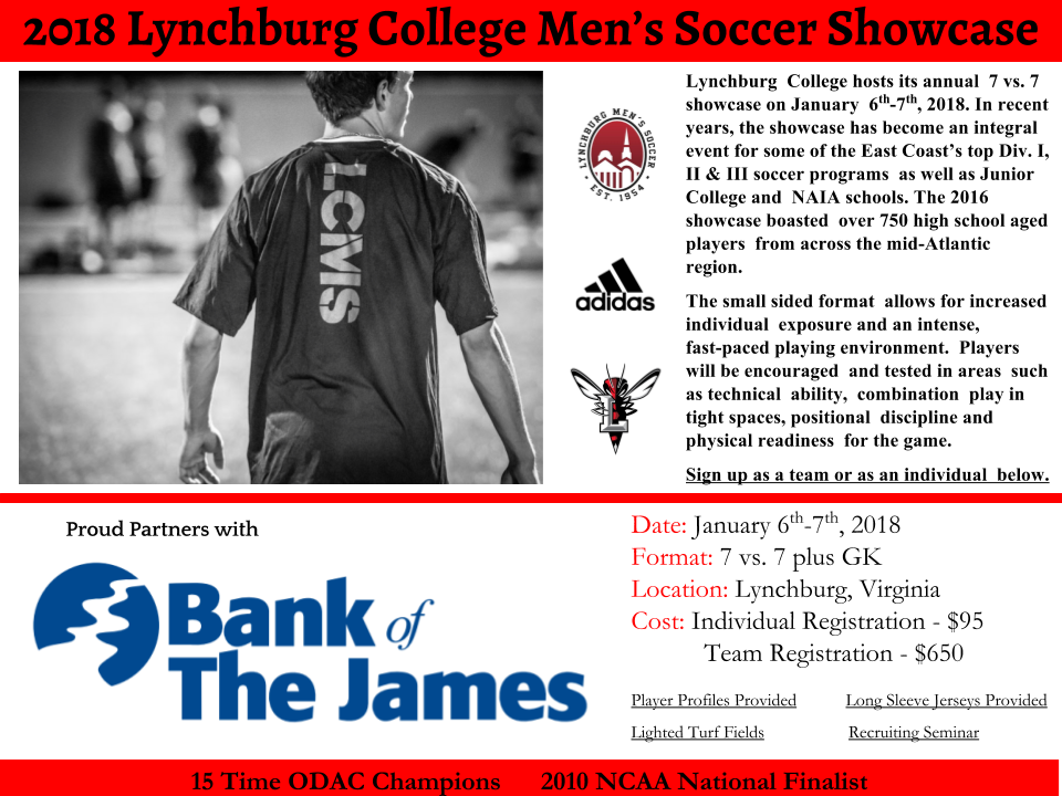 Lynchburg College men's soccer showcase - Jan 6-7