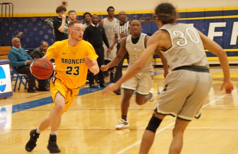 Broncos Rally Late from 12 Down to Beat Pine Manor, Will Play Alfred State in Sunday's ACAA Championship