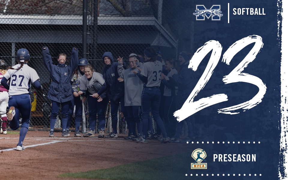 Moravian softball ranked No. 23 in 2019 National Fastpitch Coaches Association Division III Top 25 Poll.