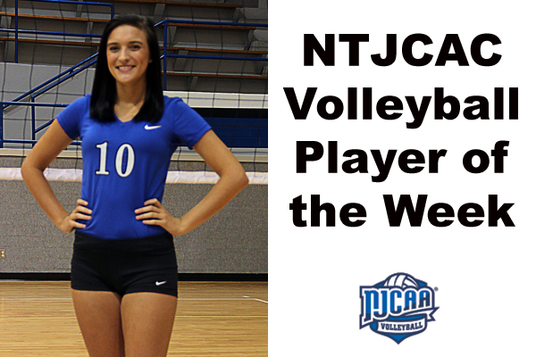 NTJCAC Volleyball Player of the Week (Oct. 22-28)