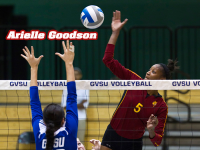 Volleyball's Arielle Goodson Featured In West Michigan Newspaper