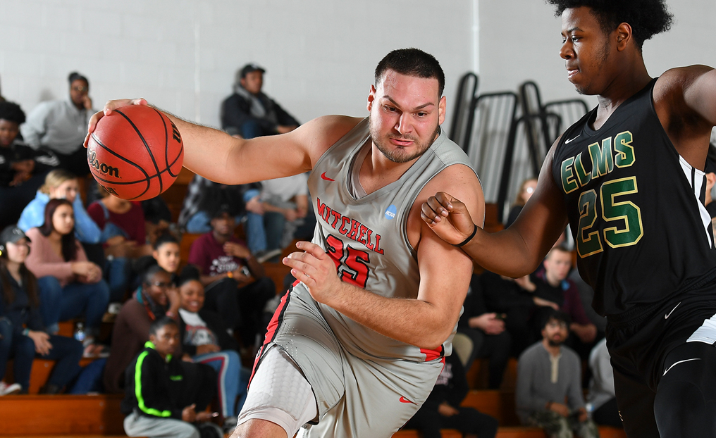MBB Powers Past Elms for First NECC Win