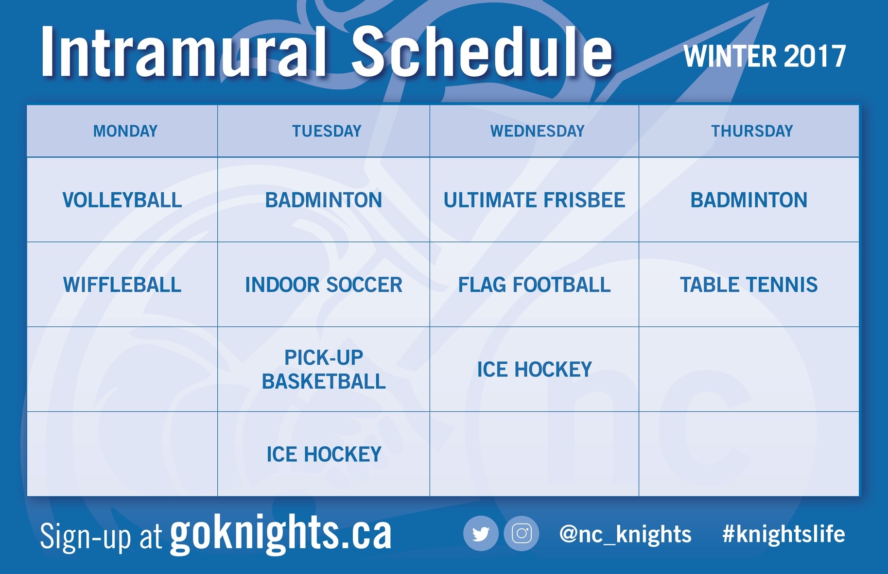 SIGN-UP:  Intramural Sports