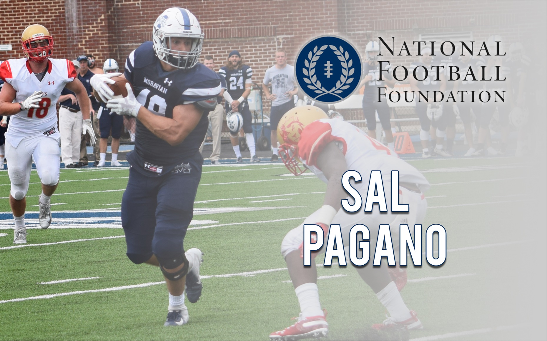 Sal Pagano named semifinalist for National Football Foundation's William V. Campbell Trophy.