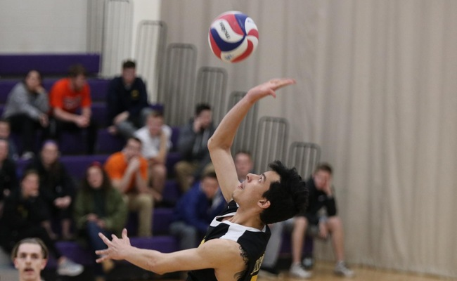 JP Nery (21) had four kills for Keuka College on Thursday