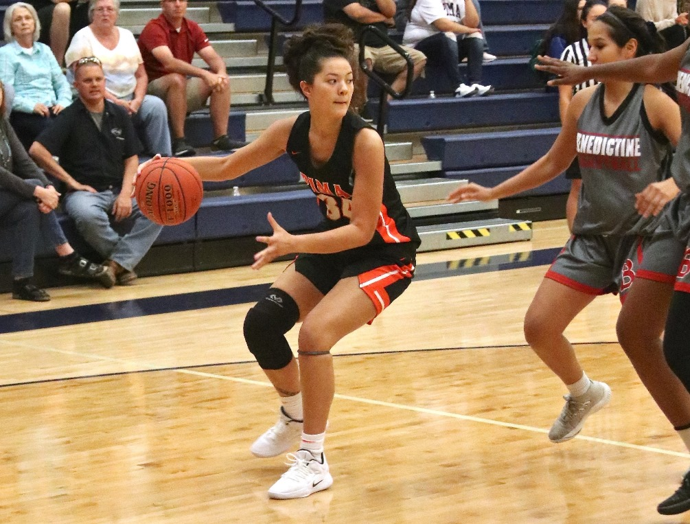 Freshman Tyra Do went 8 for 10 from the field and scored 16 points but the No. 14 ranked Aztecs women's basketball fell to Howard College 71-64 in the first day of the Eastern Arizona Classic. Photo by Stephanie Van Latum.