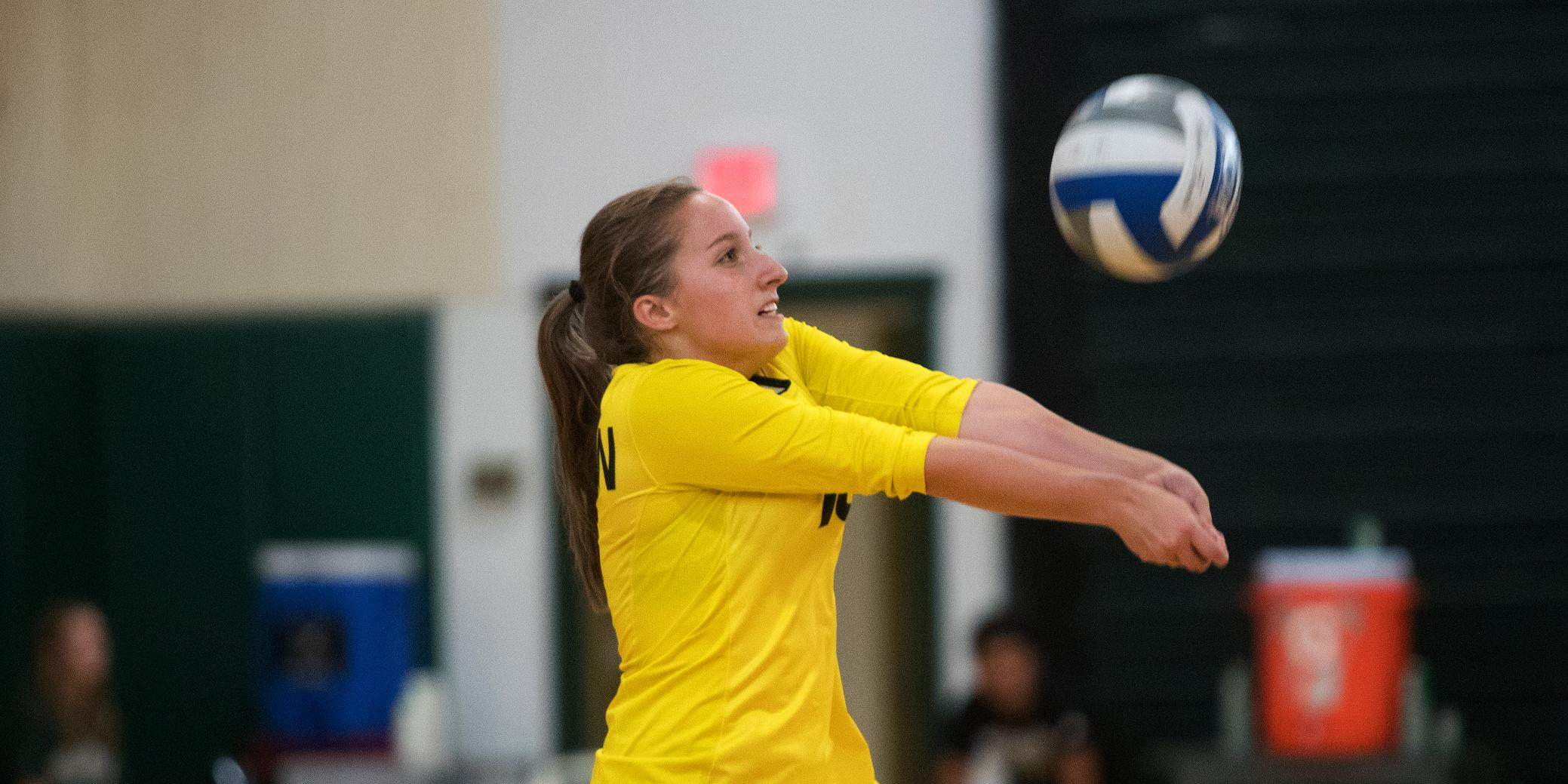 Volleyball Drops Non-Conference Match at Maine Maritime