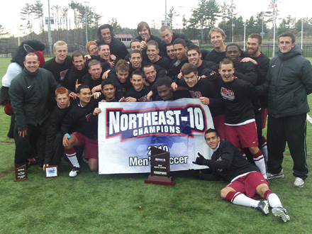 #1 MEN'S SOCCER CLAIMS 2010 NORTHEAST-10 CHAMPIONSHIP!!! Ravens Down Bentley 1-0