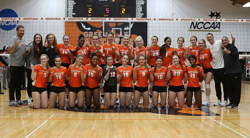 Women's volleyball clinches eighth of last nine SLIAC league championships