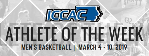 Doug Wilson named ICCAC Athlete of the Week