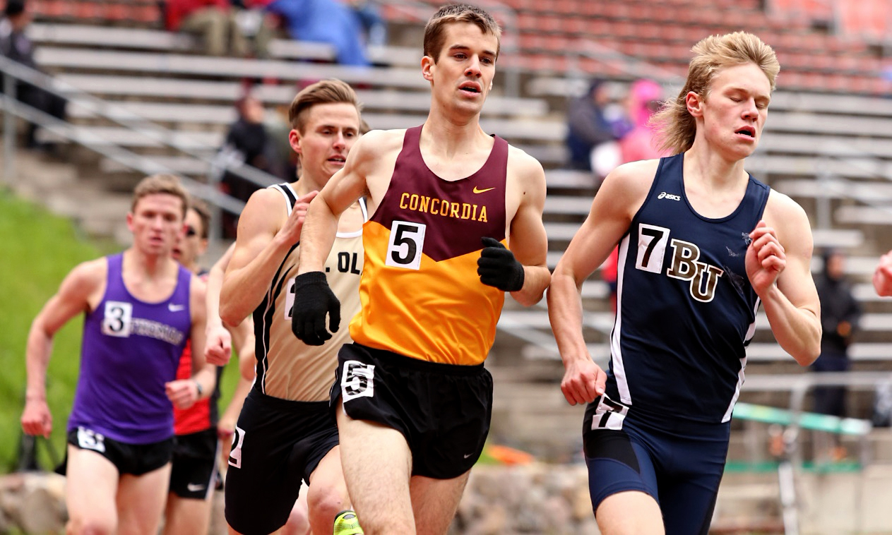Junior Matthew Lillehaugen earned his second straight MIAC All-Conference Honorable Mention honor by placing sixth in the 800 meters. (Photo courtesy of Nathan Lodermeier)