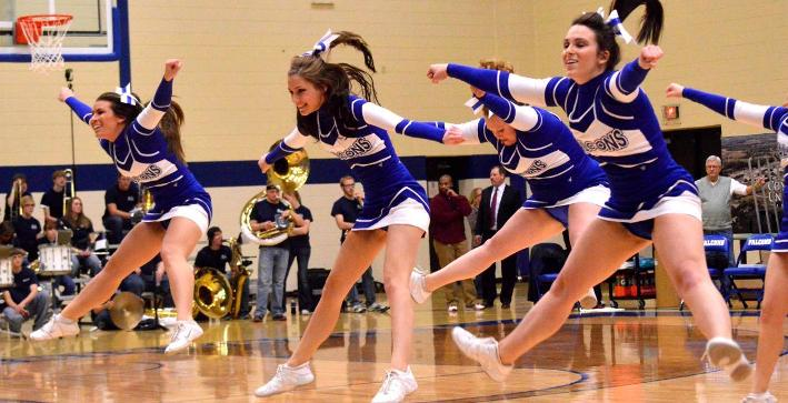 Cheerleading competes at It's Showtime event