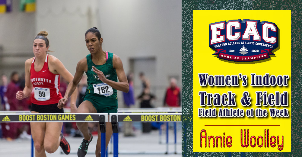 Woolley Named ECAC DIII NE Women's Indoor Track Athlete Of The Week