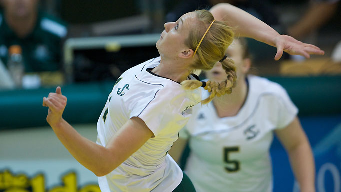 VOLLEYBALL LOSES IN FIVE, ELIMINATED FROM BIG SKY TOURNAMENT CONTENTION