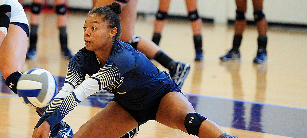 GU women's volleyball records back-to-back sweeps