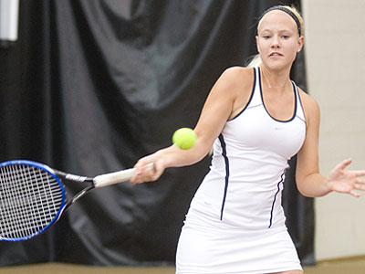 FSU sophomore Melissa Flowers picked up a win at number five singles (FSU Photo Services)