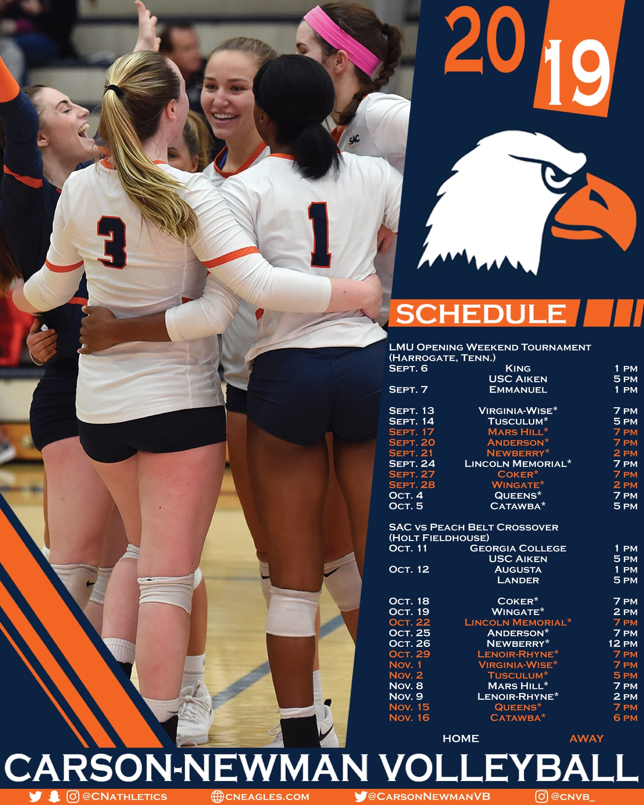 Tournament level schedule on tap for 2019 volleyball season