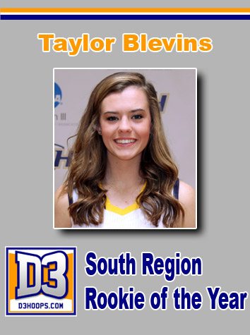 Emory & Henry's Taylor Blevins Named South Region Rookie Of The Year By D3hoops.com
