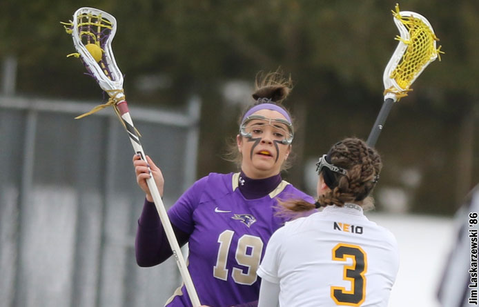 Women's Lacrosse Falls to Saint Anselm, 12-7, in NE10 Play