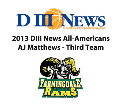 Matthews Selected to DIII News All-American Team