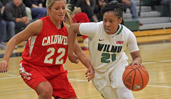 Copyright 2017; Wilmington University. All rights reserved. File photo of LaShyra Williams who led the team with 24 points, taken by Frank Stallworth.