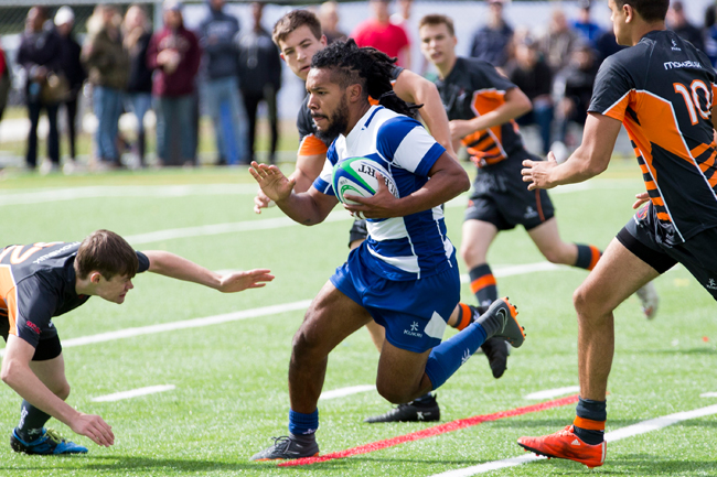 MEN'S RUGBY DOMINANT IN HOME OPENER WIN OVER MOHAWK