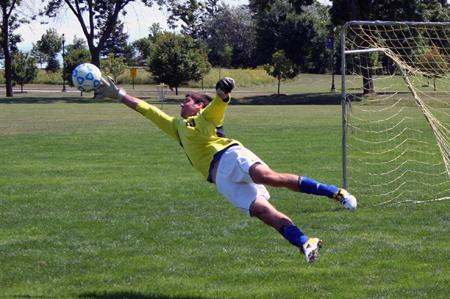 Falcon men's soccer is SECURE in goal